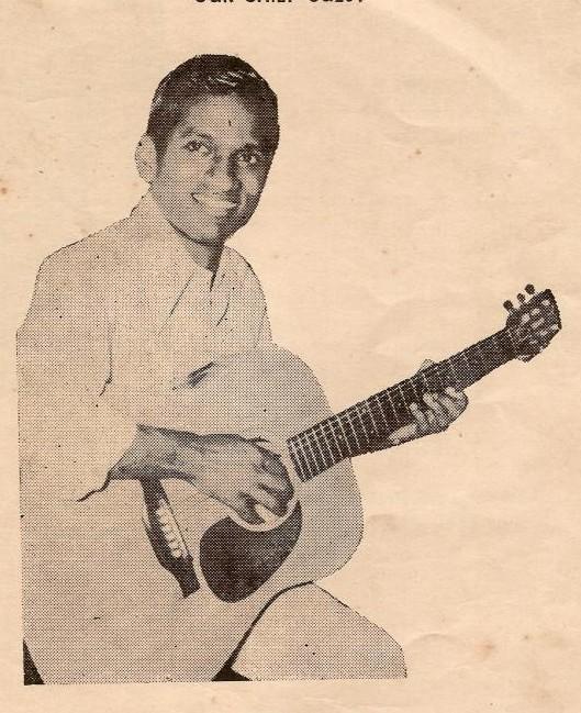 Raja with guitar