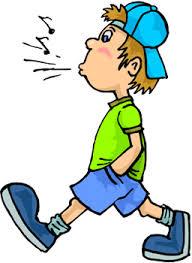 Boy whistling
